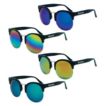 S71083X - Vintage Mirrored Lens Sunglasses