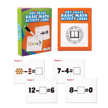 S63049X - Wipe Off Dry Erase Cards - Math
