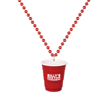 S55073X - Red Shot Glass On Beads