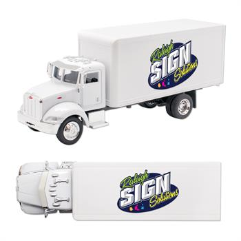 DC040XFC - Peterbilt Model 335 Box Truck 1/43 Scale Replica