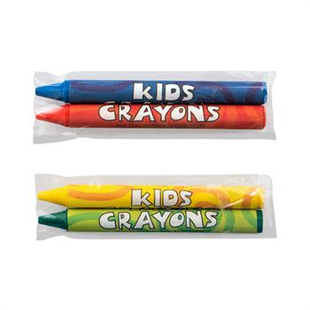 S11028 - 2 Pack Blank Cello Wrapped Crayons