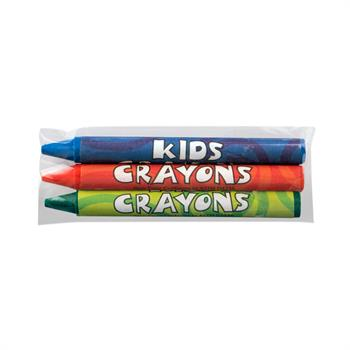 S11029 - 3 Pack Blank Cello Wrapped Crayons