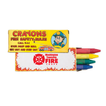 S11118X - 4 Pack Fire Safety Crayons
