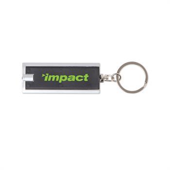 S16243X - Rectangle Flashlight Keychain