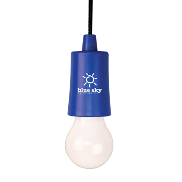 S16337X - Blue Bulb Shaped LED with Cord