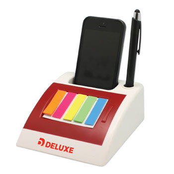 S21021X - Cell Phone Docking Station with Notepad & Sticky Flags