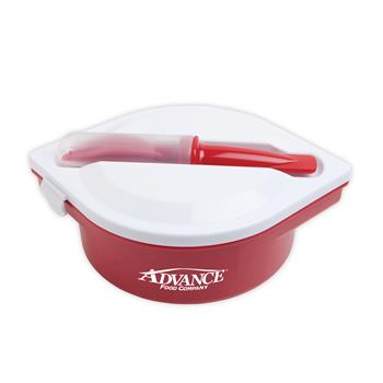 S21077X - Red Round Lunchbox