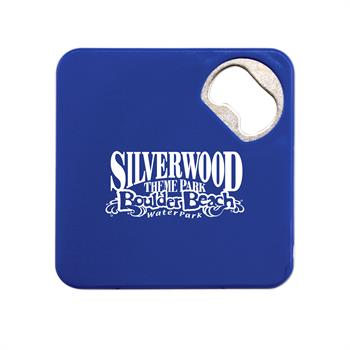 S21183X - Blue Coaster with Bottle Opener