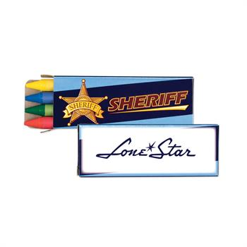S24048X - 4 Pack Sheriff Crayons