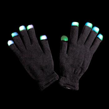 Light Up Gloves - Black