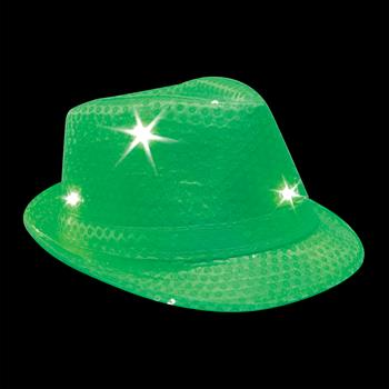 S46086 - Light Up Sequin Fedoras