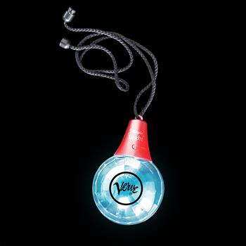 S46099X - Blacklight LED Disco Ball Necklace