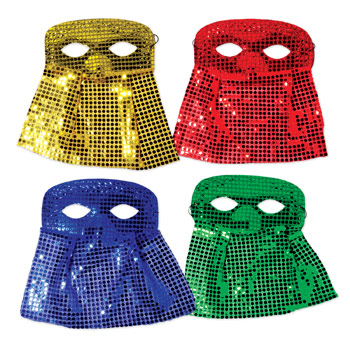 Sequin Mask with Veil