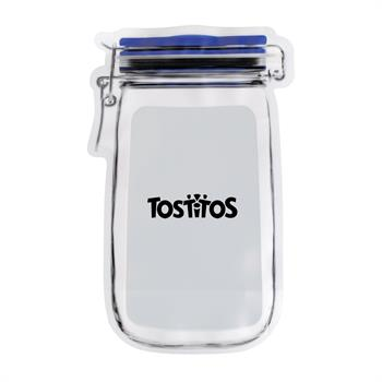 "S4801X - Large ""Mason Jar"" Food Pouch"