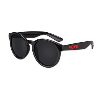 S53113X - Round Lens Black Sunglasses
