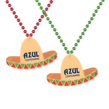 S55035X - Sombrero Medallion W/Beads