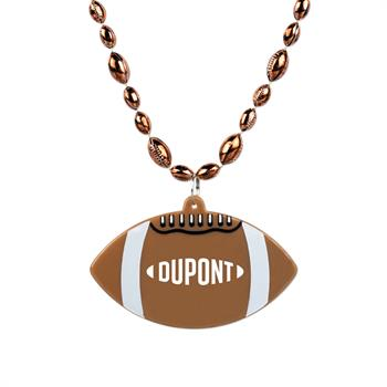 S55088X - Football Medallion with Football Beads