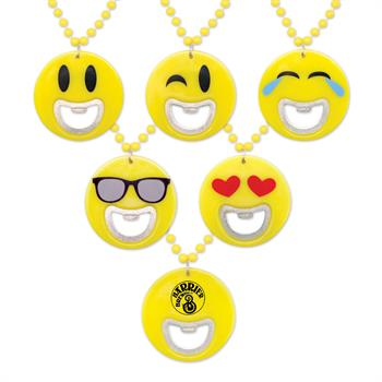 S55114X - Emoji Bottle Opener Beads