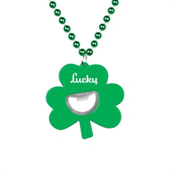 S55125X - Shamrock Bottle Opener Medallion Beads