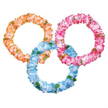 S6141 - Pastel Silk Flower Leis