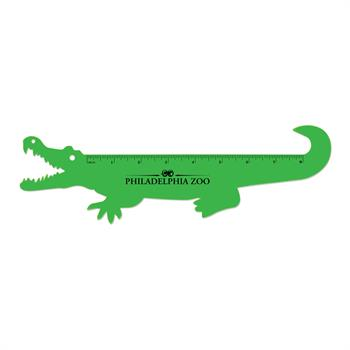 S63054X - Fun Alligator Shaped Ruler