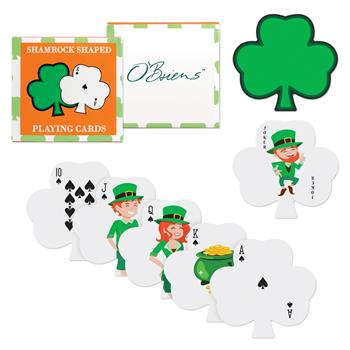 S63070X - Shamrock Shaped Playing Cards