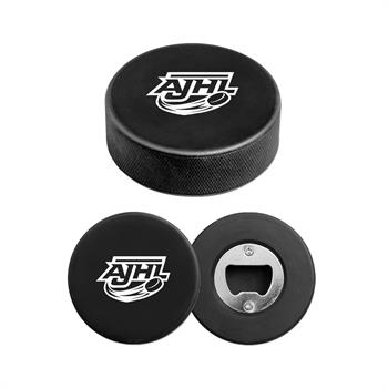 S66050X - Hockey Puck Bottle Opener