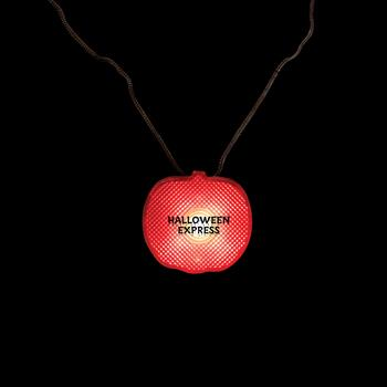 S6699X - Pumpkin Light Up Strobe Necklace