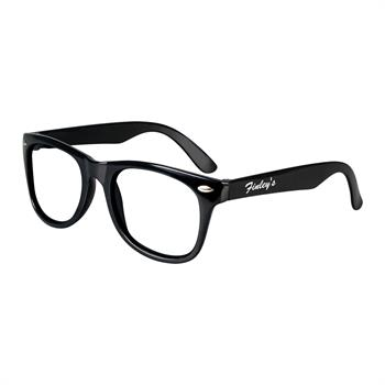 """S70218X - """"Blues Brothers"""" Clear View Sunglasses"""