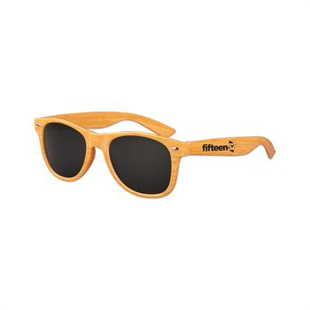 S71027X - Kids Wood Grain Iconic Sunglasses