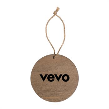 S71411X - Round Wooden Ornament