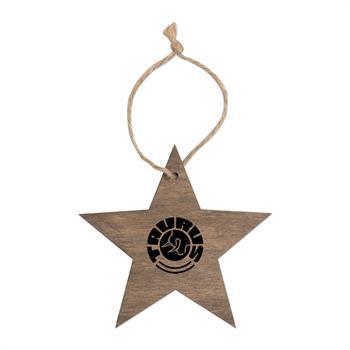 S71412X - Wooden Star Ornament