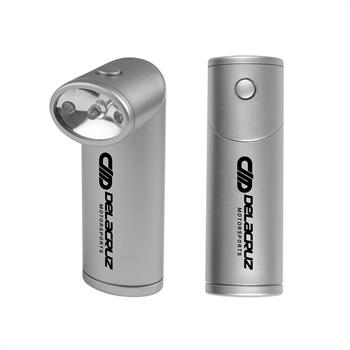 Flashlight with Revolving Head - Silver
