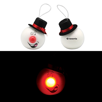 S90102X - LED Snowman Ornament with Top Hat