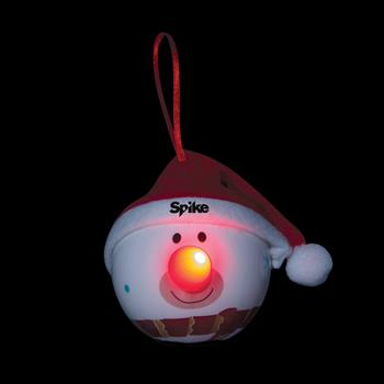 S90115X - LED Snowman Ornament with Santa Hat