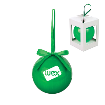 S90132X - 80Mm Plastic Holiday Ornament