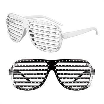 Slotted Rhinestone Glasses with Studs