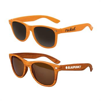 SUNKWD - Kids Wood Grain Iconic Sunglasses