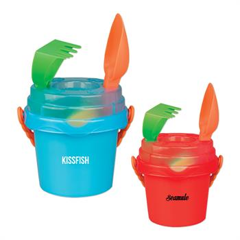 TOYPAL - Mini Sand Pail with Toys and Lid