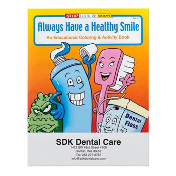 WCB7 - Always Have a Healthy Smile Coloring Book