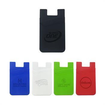 WL1472E - Silicone Dual Pocket Phone Wallet