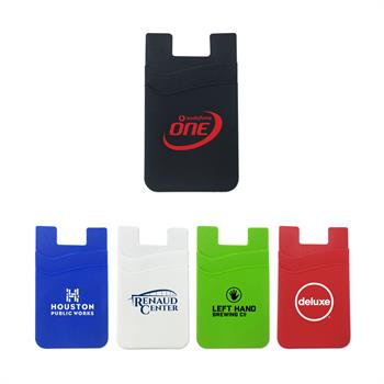 WL1472SS - Silicone Dual Pocket Phone Wallet