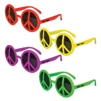 WP1013X - Neon Peace Glasses