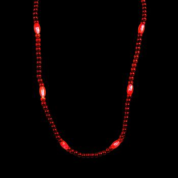 WP1415 - Light Up Red Bead Necklace