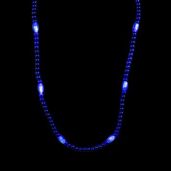 WP1416 - Light Up Blue Bead Necklace
