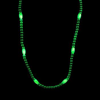 WP1417 - Light Up Green Bead Necklace