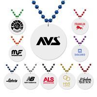 White Medallion Beads