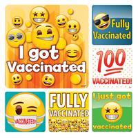 Emoji Vaccination Stickers