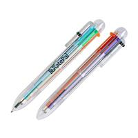 Six Color Pen with Clear Tube