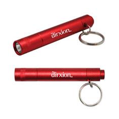Metallic Flashlight Keychain